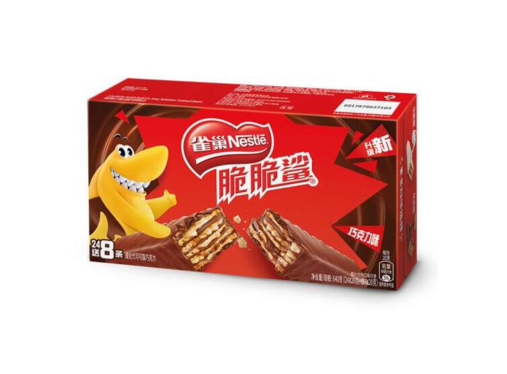 雀巢脆脆鲨威化饼干 巧克力口味(640g)