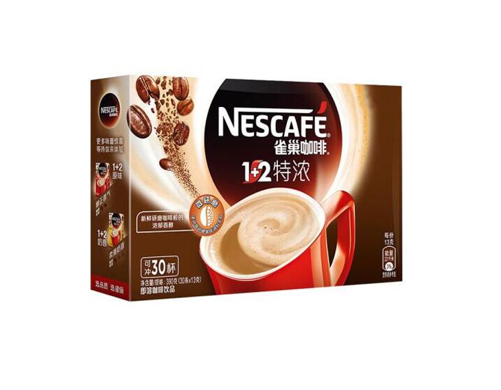 雀巢咖啡速溶1+2特浓(30条390g)
