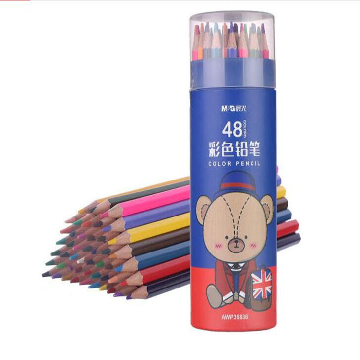 晨光48色六角彩色铅笔