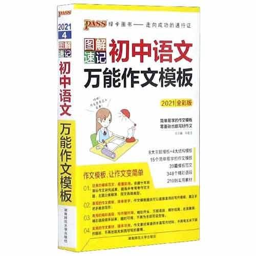 2021全彩版 初中语文万能作文模板 图解速记